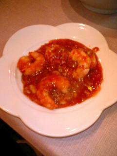 中華菜館 神岳  エビのチリソース(小皿)