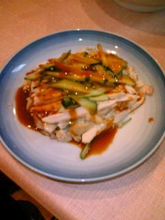 中華菜館 神岳  蒸鶏のごまソース(小皿)