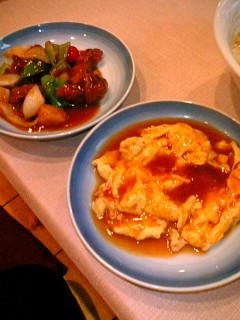 中華菜館 神岳  酢豚&カニ玉(小皿)