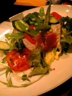 てんしん堂 魚のサラダ