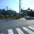 廃線跡を歩く~国鉄日田線(東小倉~妙見~石田)4 道路がカーブした先、国道3号線砂津付近